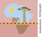african nature scene with... | Shutterstock .eps vector #525361603