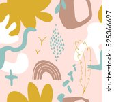 the seamless colorful pattern... | Shutterstock .eps vector #525366697