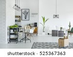 white apartment with pattern... | Shutterstock . vector #525367363