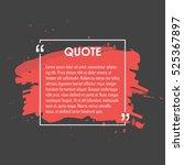 quote text bubble. commas  note ...   Shutterstock .eps vector #525367897