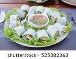 Thai Spicy Food. Spring Rolls...