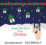 online order gifts. the concept ... | Shutterstock .eps vector #525389317