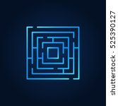 labyrinth blue icon. vector...   Shutterstock .eps vector #525390127