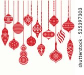 christmas ornaments christmas... | Shutterstock .eps vector #525397303