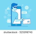 vector illustration in modern... | Shutterstock .eps vector #525398743