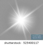 glow light effect. star burst... | Shutterstock .eps vector #525400117