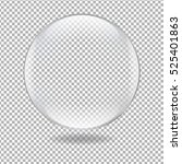 glass ball  with gradient mesh  ... | Shutterstock .eps vector #525401863
