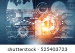 virtual interface background .... | Shutterstock . vector #525403723