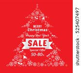christmas and new year sale... | Shutterstock .eps vector #525407497