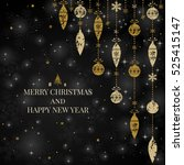 new year and merry christmas... | Shutterstock .eps vector #525415147