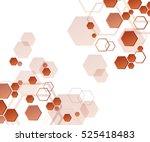 hexagons  abstract background... | Shutterstock .eps vector #525418483