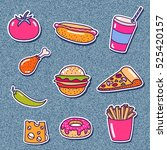 set of stickers with street... | Shutterstock .eps vector #525420157