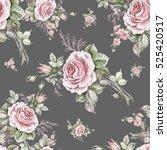 watercolor seamless pattern...   Shutterstock . vector #525420517