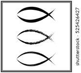 christian fish symbol. vector | Shutterstock .eps vector #525426427