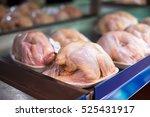 raw chicken on the supermarket... | Shutterstock . vector #525431917