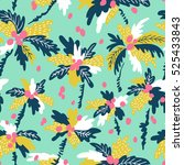 seamless pattern with... | Shutterstock .eps vector #525433843
