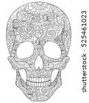 skull coloring book for adults... | Shutterstock .eps vector #525461023