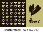 heart icons set  hand drawn... | Shutterstock .eps vector #525462247