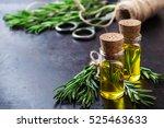 natural rosemary essential oil... | Shutterstock . vector #525463633