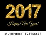 new year card  with gradient... | Shutterstock .eps vector #525466687