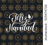 vector feliz navidad ... | Shutterstock .eps vector #525474733