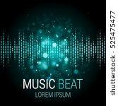 music beat vector. turquoise...   Shutterstock .eps vector #525475477
