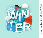 winter  with gradient mesh ... | Shutterstock .eps vector #525479647