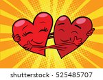 eternal love red hearts...   Shutterstock .eps vector #525485707