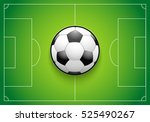 poster template with football... | Shutterstock .eps vector #525490267