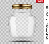glass jar for canning and... | Shutterstock .eps vector #525490483