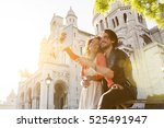 young couple visiting paris   Shutterstock . vector #525491947