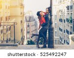young couple visiting paris | Shutterstock . vector #525492247