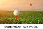 golf ball on grass course  ... | Shutterstock . vector #525498907