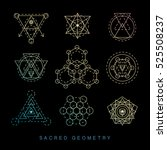 sacred geometry signs set.... | Shutterstock .eps vector #525508237