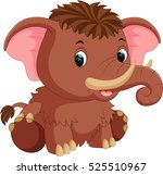 Stock vector mammoth cartoon 525510967