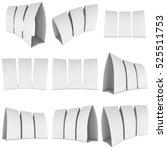 blank paper tent card set. 3d... | Shutterstock . vector #525511753