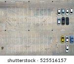 empty parking lots  aerial view.   Shutterstock . vector #525516157