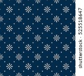 winter holiday knitted pattern... | Shutterstock .eps vector #525518647