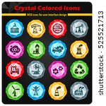 industry crystal color icons... | Shutterstock .eps vector #525521713