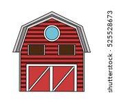 isolated farm building design   Shutterstock .eps vector #525528673