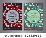auto repair brochure templates  ...   Shutterstock .eps vector #525529693