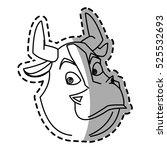 isolated bull cartoon design | Shutterstock .eps vector #525532693