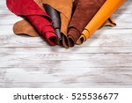 brightly colored leather in... | Shutterstock . vector #525536677