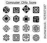 computer chips and electronic... | Shutterstock .eps vector #525537187
