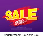 sale banner. sale label | Shutterstock .eps vector #525545653