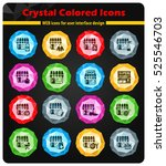 shop crystal color icons for... | Shutterstock .eps vector #525546703