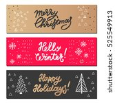 christmas and new year design... | Shutterstock .eps vector #525549913