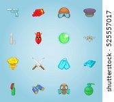 military equipment icons set.... | Shutterstock . vector #525557017