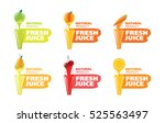 stock vector logo fresh juice | Shutterstock .eps vector #525563497