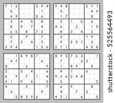 vector set of sudoku | Shutterstock .eps vector #525564493